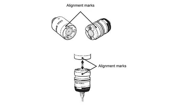 TP20 alignment marks