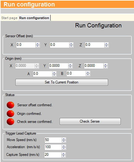 DMT run configuration