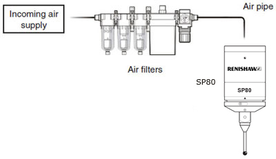 SP80 air filter system diagram