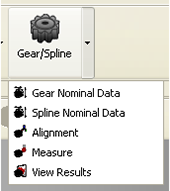 Technical drawing:  Technical drawing:  Gear spline - 1