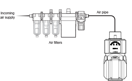 REVO-2 and air filter - labelled