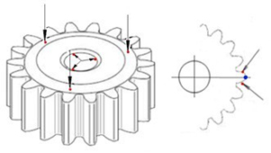 Technical drawing:  Technical drawing:  Gear spline - 5