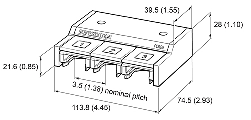 FCR25 dimensions