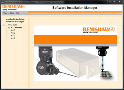 Renishaw installation manager