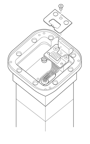 Securing D-type connector to adaptor