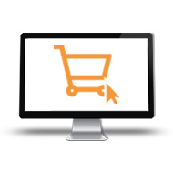 Web shop icon roll up button