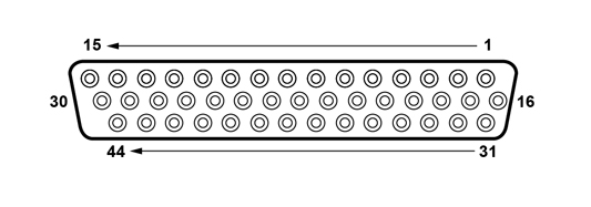 44-way HDD socket