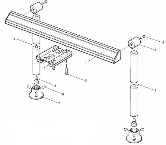Components of MRS modular rack system