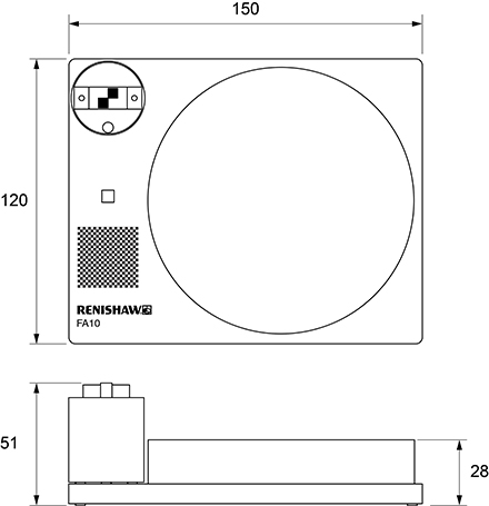 Technical drawing:  Technical drawing:  FA10 dimensions