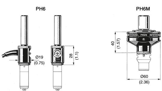 PH6 and PH6M dimensions