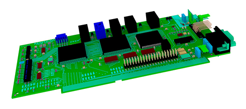 Technical drawing:  Technical drawing:  PHS interface card