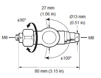 PK1 knuckle joint dimensions