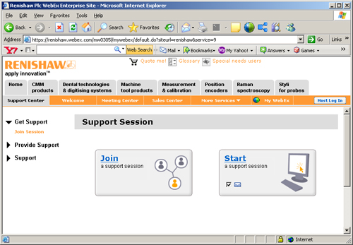 how to join Webex support session