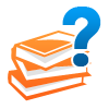 Knowledge base icon represented by books