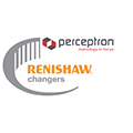 Renishaw changers promotion logo - Perceptron