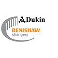 Renishaw changers promotion logo - Dukin