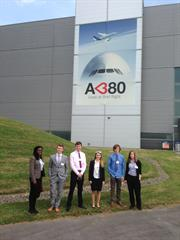 The Renishaw Engineering Experience 2014 winning students visit Airbus