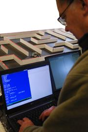 Alan Dibley perfects the maze-exploration programming in his bid to re-gain the UK championship