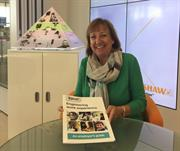 Julie Collins with the employer's guide to engineering work experience