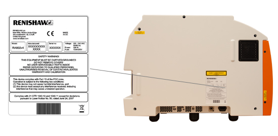 RA802 serial number location