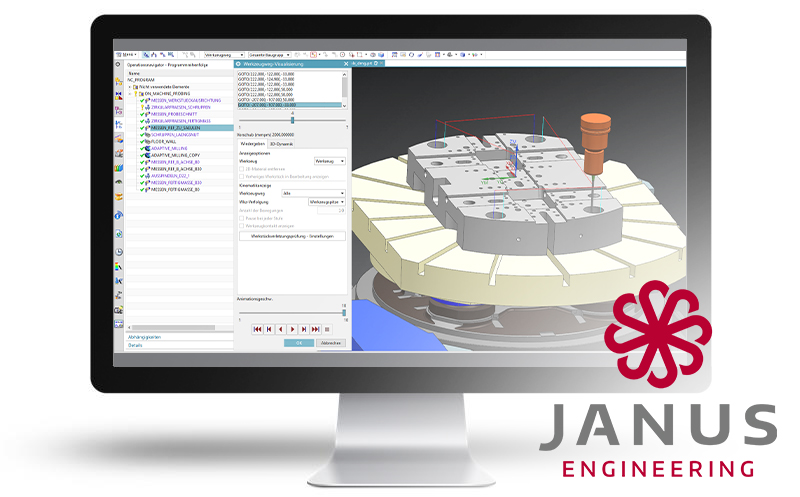 Janus Engineering measuring NX Cam