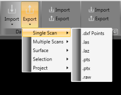 Export options on Quarryman Viewer Software