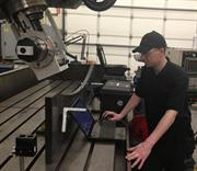 XR20-W mounted off axis on a 5-axis machining centre, Morley Machine Alignment, USA