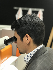 Prof. Carlos A. Carrero using his inVia™ Qontor® Raman microscope