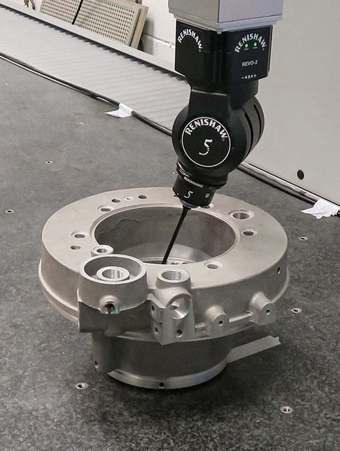 REVO 5-axis head providing infinite positioning capability