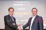 Renishaw's Philippe ReindersFolmer collects Award from Richard Stevenson, Editor of CS Magazine