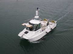 Dynascan mounted on coastal survey vessel