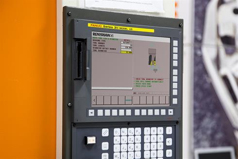 Renishaw GUI on a Fanuc controller