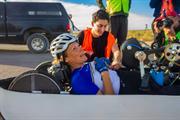 ARION4 rider Karen Darke - Human Powered Speed Challenge - World Record Holder