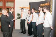 HRH The Earl of Wessex meets current and former Renishaw apprentices