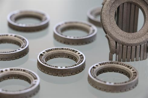 Holthinrichs Watches 'Ornament 1' watch case printed in titanium on a Renishaw AM 400 system