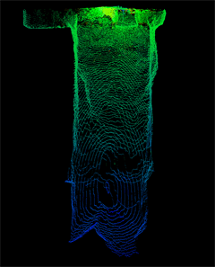 Point cloud scan of a void