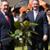 Secretary of State Liam Fox (right) plants commemorative tree with Renishaw's Rhydian Pountney