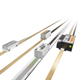 Linear incremental optical encoder range montage