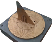 Cut out - Additively manufactured sun dial for Berkeley Castle