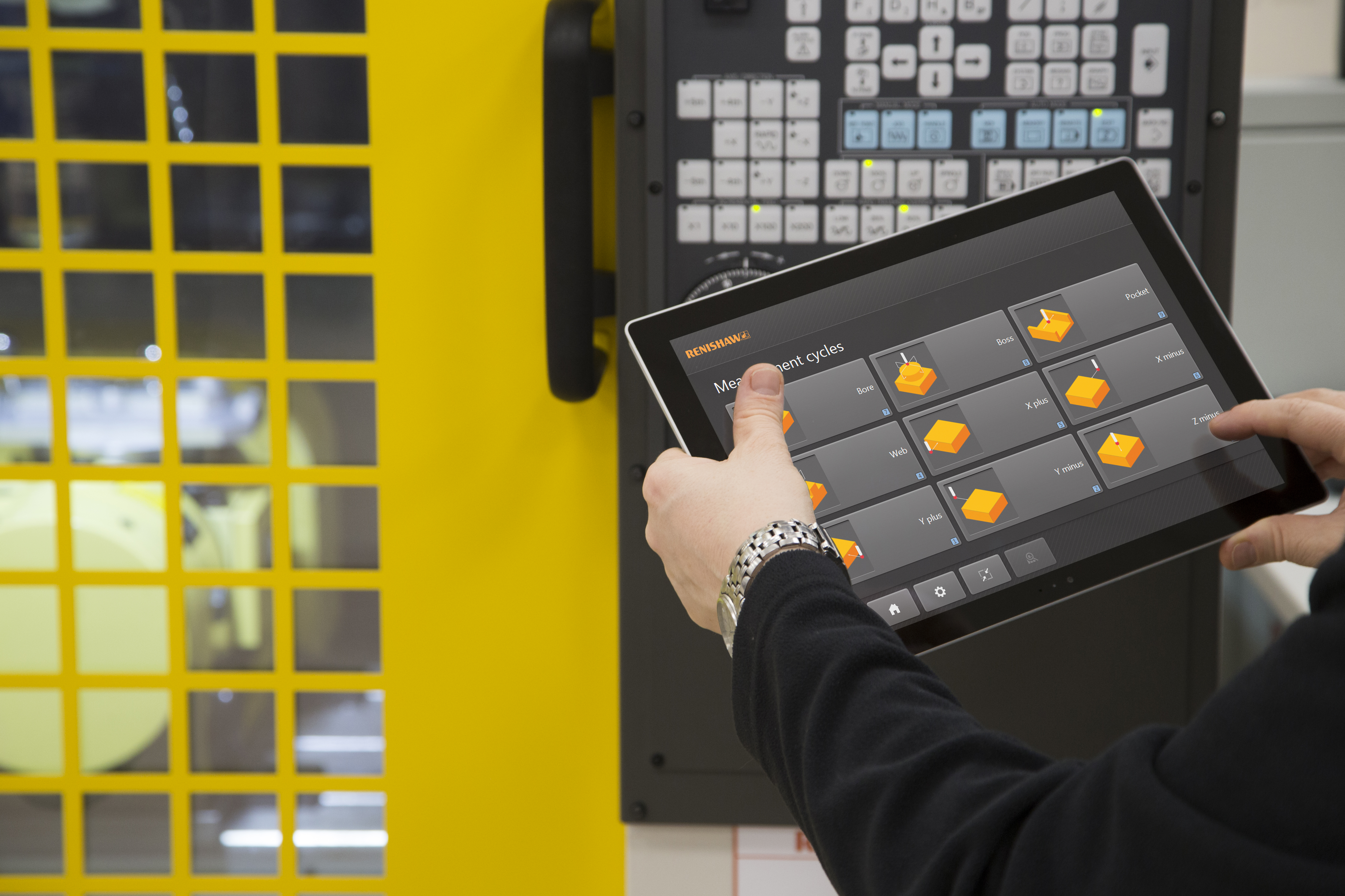 Set and Inspect for Fanuc: measurement cycles screen