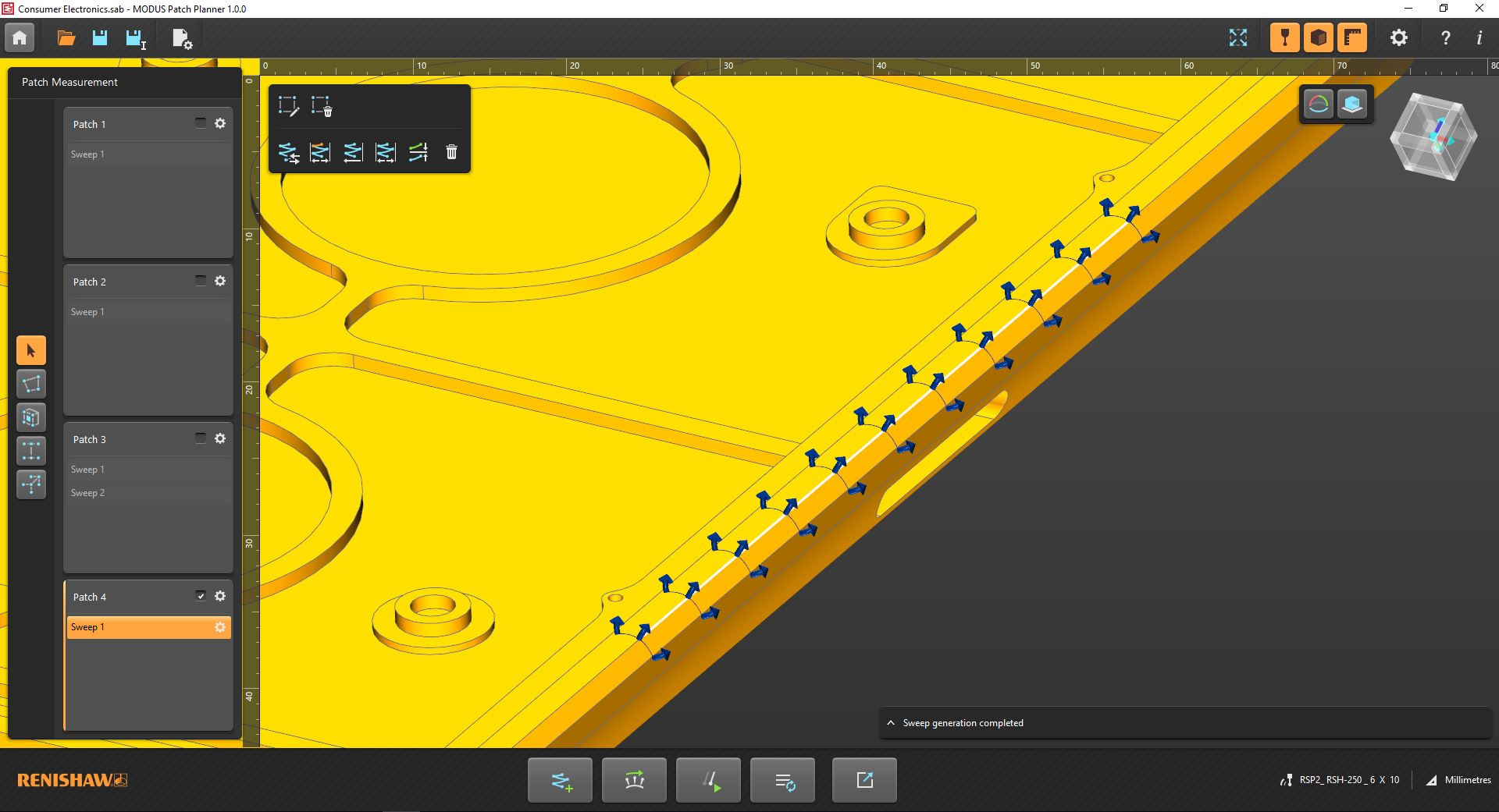 Enhanced access capability for the REVO® 5-axis measurement