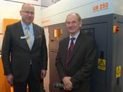 Sir David McMurtry, Chairman and Chief Executive of Renishaw (right), with Christoph Weiss, Managing Partner of BEGO