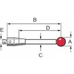 standard styli dimensions