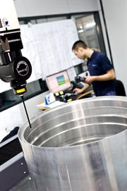 Escribano case study - REVO® scanning a large bore on an aerospace component.
