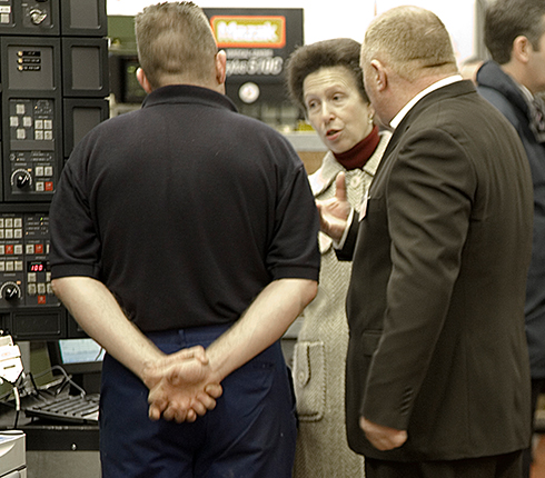 Martin Aerospace HRH Princess Anne meets Jim McFarlane