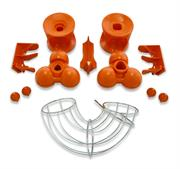 Zumex vacuum cast parts and feeder tube