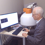 Dr. Victor V. Popov using an inVia Raman microscope