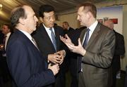 Chris Pockett (r) with Chinese Ambassador and Simon Hughes MP
