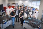 Students from Radyr High School with Renishaw staff in the Renishaw Fabrication Development Centre (FDC)