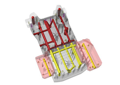 Original design of tool for K2 rear yellow case